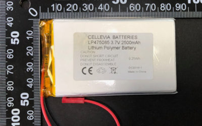 Rechargeable LiPoly Battery LP475085 3.7V 2500mAh with Protection Circuit & Wires 150mm & JST SYM-001T-P0.6