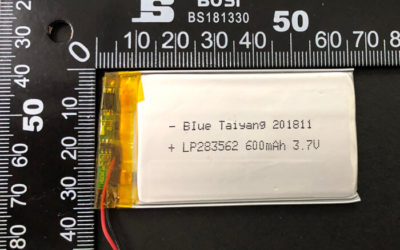 Rechargeable LiPoly Battery LP283562 3.7V 600mAh with PCM & Molex 510210200