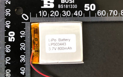 Rechargeable LiPoly Battery LP503443 3.7V 800mAh with Protection Circuit & Wires