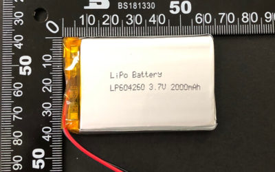 Rechargeable LiPoly Battery LP604260 3.7V 2000mAh with PCM & Wires