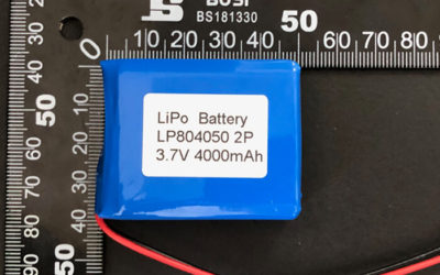 Rechargeable LiPoly Battery LP804050 2P 3.7V 4000mAh with Protection Circuit & Wires