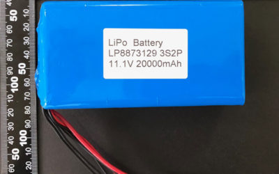 Rechargeable LiPoly Battery LP8873129 3S2P 11.1V 20000mAh with Protection Circuit & T Connector
