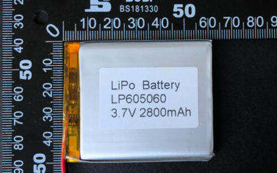 LiPoly Battery LP605060 3.7V 2800mAh with PCM & Wires
