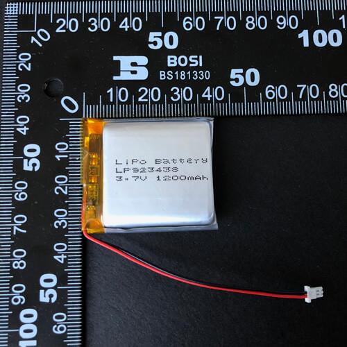 LiPoly Battery LP923438 3.7V 1200mAh with PCM & JST SHLP-02V-S-B