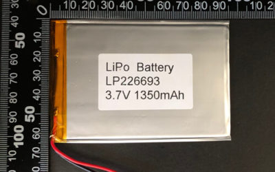 LiPoly Battery LP226693 3.7V 1350mAh with wires 50mm