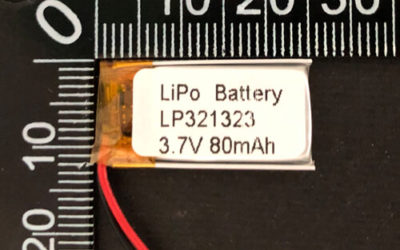 LiPoly Battery LP321323 3.7V 80mAh with PCM