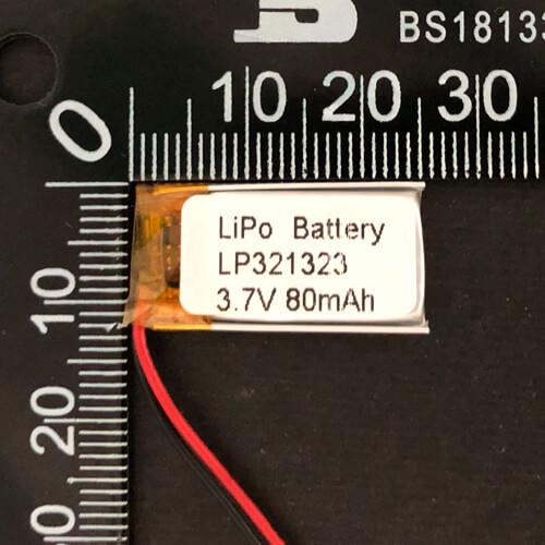 LiPoly Battery LP321323 3.7V 80mAh with PCM