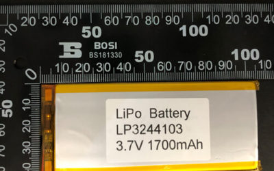 LiPoly Battery LP3244103 3.7V 1700mAh with PCM