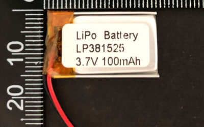 LiPoly Battery LP381525 3.7V 100mAh with PCM