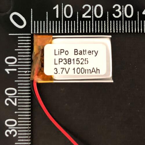 LiPoly Battery LP381525 3.7V 100mAh with PCM