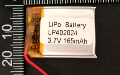 LiPoly Battery LP402024 3.7V 165mAh with PCM