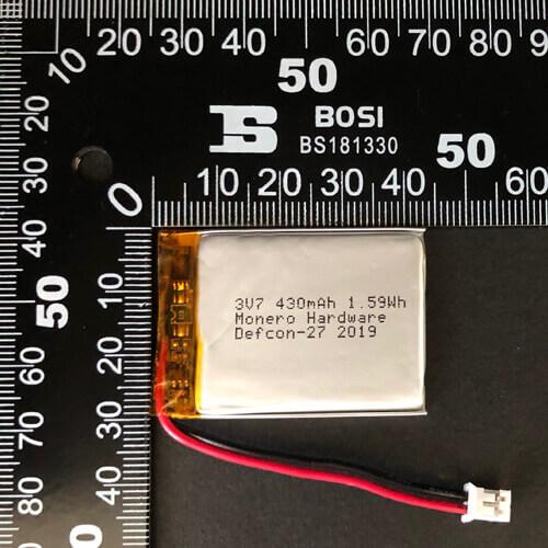 LiPoly Battery LP403040 3.7V 430mAh with PCM & JST PHR-2