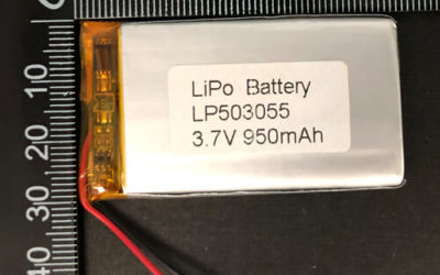 LiPoly Battery LP503055 3.7V 950mAh with PCM
