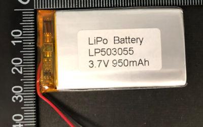LiPoly Battery LP503055 3.7V 950mAh with PCM