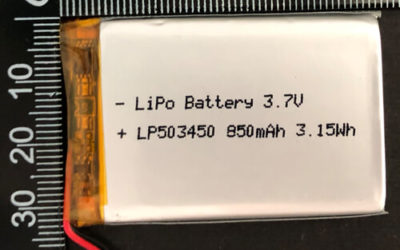 LiPoly Battery LP503450 3.7V 850mAh with PCM