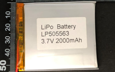 LiPoly Battery LP505563 3.7V 2000mAh 7.4Wh with PCM