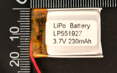 LiPoly Battery LP551927 3.7V 230mAh 0.85Wh with PCM