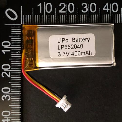 LiPoly Battery LP552040 3.7V 400mAh with PCM & 10K NTC & JST SHR-03V-S-B