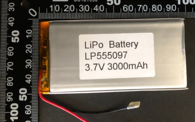LiPoly Battery LP555097 3.7V 3000mAh with PCM