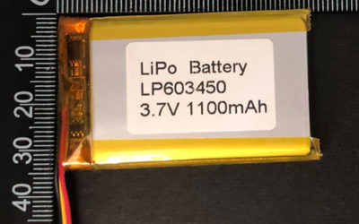 LiPoly Battery LP603450 3.7V 1100mAh with PCM