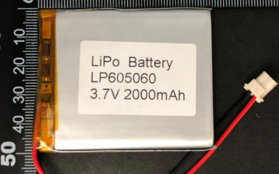 LiPoly Battery LP605060 3.7V 2000mAh with PCM & Molex 50-17-5023