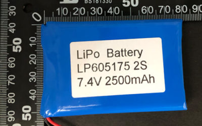 LiPoly Battery LP605175 2S 7.4V 2500mAh with PCM