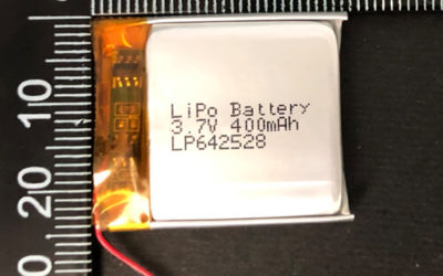 LiPoly Battery LP642528 3.7V 400mAh with PCM & JST ACHR-02V