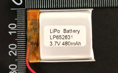 LiPoly Battery LP652631 3.7V 480mAh with PCM