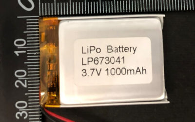 LiPoly Battery LP673041 3.7V 1000mAh with PCM