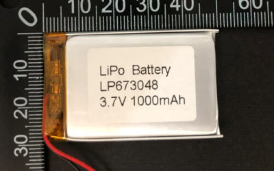 LiPoly Battery LP673048 3.7V 1000mAh with PCM