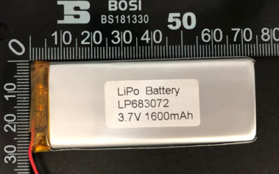 LiPoly Battery LP683072 3.7V 1600mAh with PCM