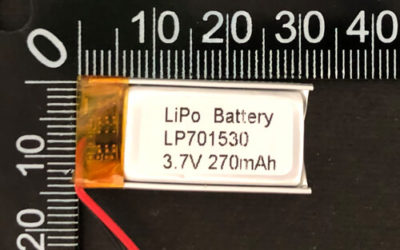 LiPoly Battery LP701530 3.7V 270mAh with PCM