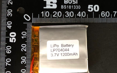 LiPoly Battery LP704044 3.7V 1200mAh with PCM