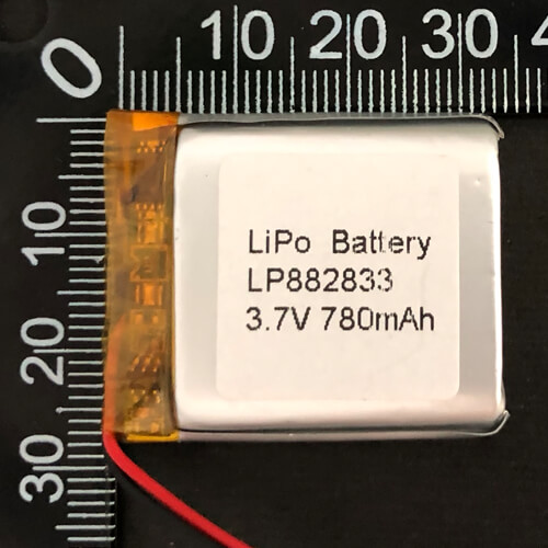 LiPoly Battery LP882833 3.7V 780mAh with PCM