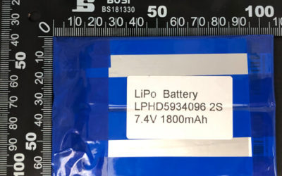 LiPoly Battery LPHD5934096 2S 7.4V 1800mAh with PCM