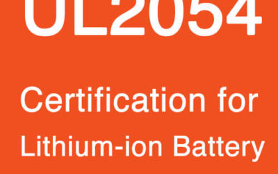UL2054 Certification for Lithium Battery