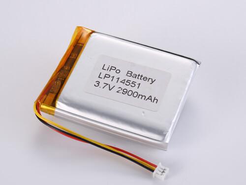 lipoly-battery-LP114551-2900mAh