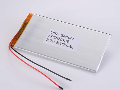 LiPoly Battery LP3870129 3.7V 5000mAh