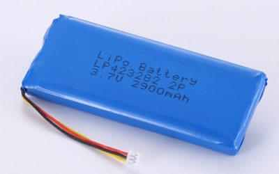 LiPoly Battery LP423282 2P 3.7V 2900mAh