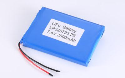LiPoly Battery LP526793 2S 7.4V 3600mAh