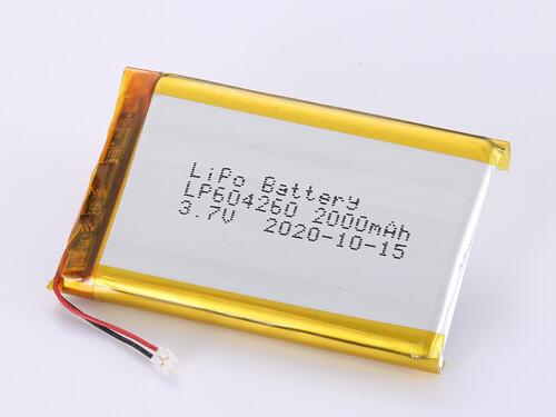 LiPoly Battery LP604260 3.7V 2000mAh