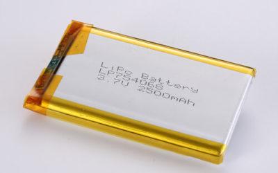 LiPoly Battery LP754068 3.7V 2500mAh