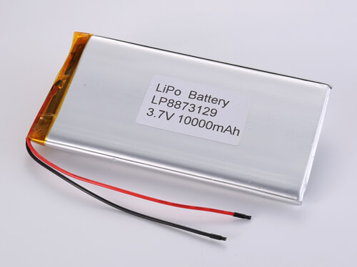 LiPoly Battery LP8873129 3.7V 10000mAh