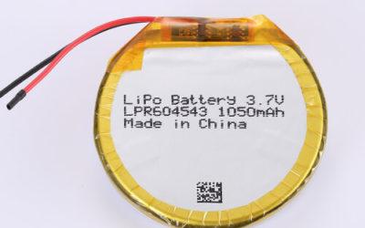 LiPoly Battery LPR604543 3.7V 1050mAh