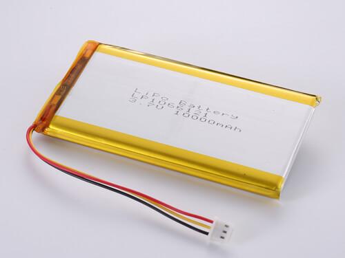 LiPoly Battery LP1066121 3.7V 10000mAh