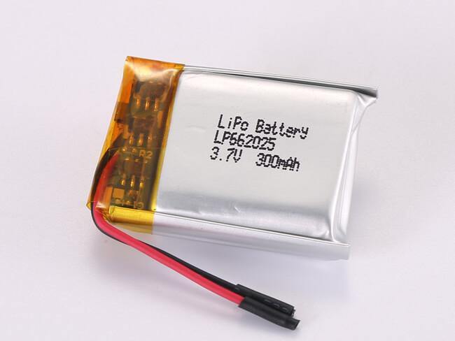 LiPoly-Battery-LP662025-300mAh
